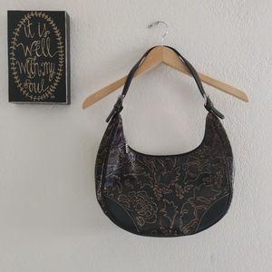 Maxx New York 💜 Tooled Hobo Boho Purse Bag Bronze